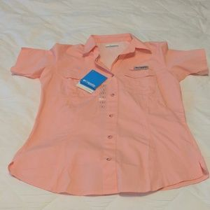 Columbia short sleeve button up shirt NWT